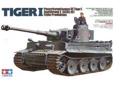 Tamiya - Panzerkamfwagen VI Tiger I Ausfürung E (Sd.Kfz.181) Frühe Produktion, Scale: 1/35, 35216