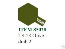 Tamiya - TS-28 Olive drab 2, 100ml