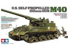 Tamiya - U.S. Self-Propelled 155mm Gun M40, Mastelis: 1/35, 35351