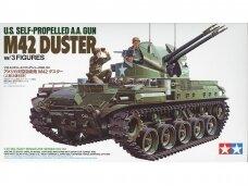 Tamiya - U.S. Self-propelled A.A. Gun M42 Duster w/3 Figures, Mastelis: 1/35, 35161