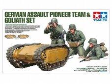 Tamiya - German Assault Pioneer Team & Goliath Set, 1/35, 35357