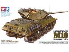 Tamiya - U.S. Tank Destroyer M10 Mid Production, Mastelis: 1/35, 35350
