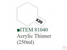 Tamiya - X-20A Acrylic thinner, 250ml