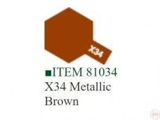 Tamiya - X-34 Metallic brown, 10ml