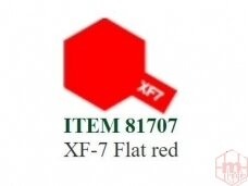 Tamiya - XF-7 Flat red, 10ml