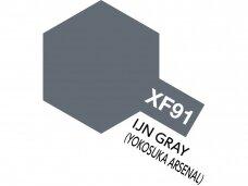 Tamiya - XF-91 IJN Gray (Yokosuka arsenal) akriliniai dažai, 10ml