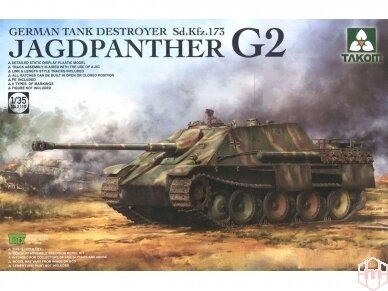 Takom - Jagdpanther G2 Sd.Kfz. 173 pilnas interjeras, Mastelis: 1/35, 2118