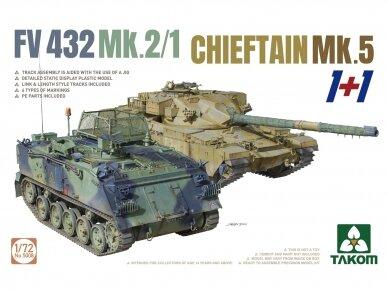 Takom - FV432 Mk.2/1 Chieftain Mk. 5 1+1, Scale: 1/72, 5008