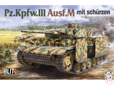 Takom - Pz.Kpfw.III Ausf.M mit schürzen, 1/35, 8002