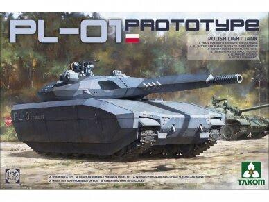 Takom -  PL-01 Prototype Polish Light Tank, Scale: 1/35, 2127