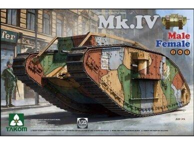 Takom - WWI Heavy Battle Tank Mk.IV, Mastelis: 1/35, 2076