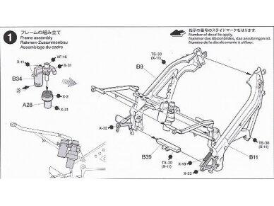 Tamiya - Ajinomoto Honda NSR 250, Mastelis: 1/12, 14110 13