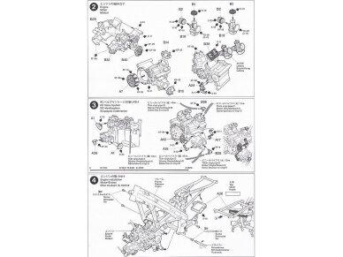 Tamiya - Ajinomoto Honda NSR 250, Mastelis: 1/12, 14110 14