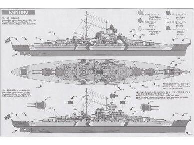 Tamiya - Bismarck German Battleship, Mastelis: 1/350, 78013 9