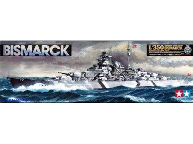Tamiya - Bismarck German Battleship, Mastelis: 1/350, 78013
