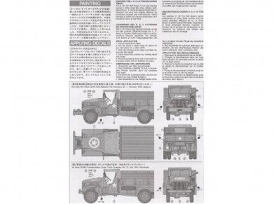 Tamiya - U.S. 2.5 Ton 6X6 Cargo Truck, Mastelis: 1/35, 35218 3