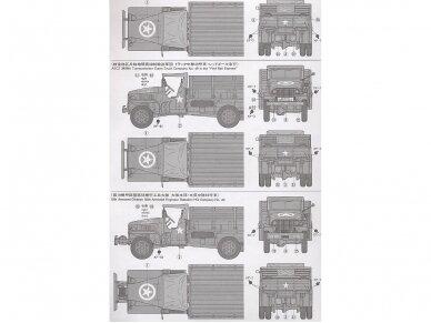 Tamiya - U.S. 2.5 Ton 6X6 Cargo Truck, Mastelis: 1/35, 35218 4