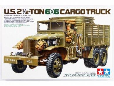Tamiya - U.S. 2.5 Ton 6X6 Cargo Truck, Mastelis: 1/35, 35218