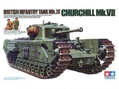 Tamiya - British Infantry Tank Mk.IV Churchill Mk.VII, Mastelis: 1/35, 35210
