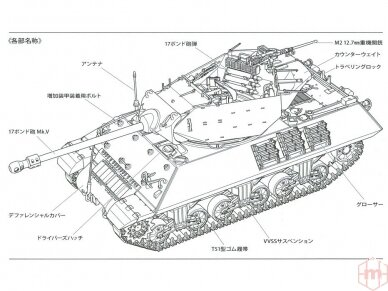 Tamiya - British Tank Destroyer M10 II C 17pdr SP Achilles, Scale: 1/35, 35366 27