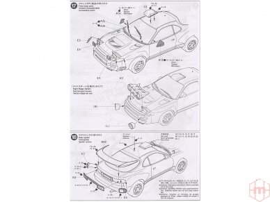 Tamiya - Castrol Celica Toyota GT-Four, Mastelis: 1/24, 24125 14