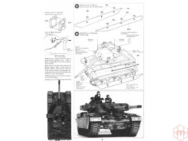 Tamiya - British Chieftain Mk.V Tank, Scale: 1/35, 35068 12