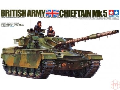 Tamiya - British Chieftain Mk.V Tank, Mastelis: 1/35, 35068