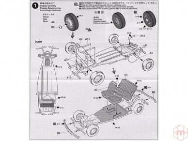 Tamiya - Citroen Traction 11CV, Mastelis: 1/48, 32517 5
