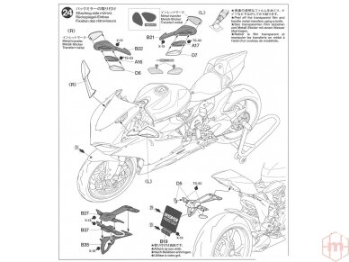 Tamiya - Ducati 1199 Panigale S Tricolore, Mastelis: 1/12, 14132 22