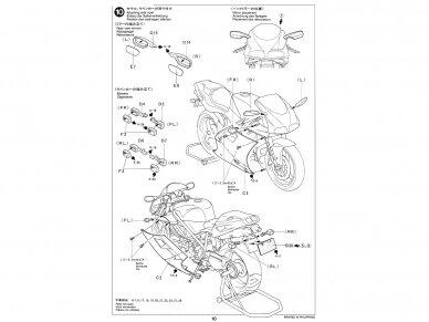 Tamiya - Ducati 916, Mastelis: 1/12, 14068 16