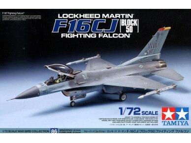 Tamiya - F-16CJ Fighting Falcon, Mastelis: 1/72, 60786