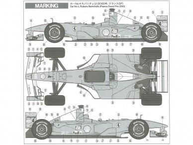 Tamiya - Ferrari F1-2000, Mastelis: 1/20, 20048 5