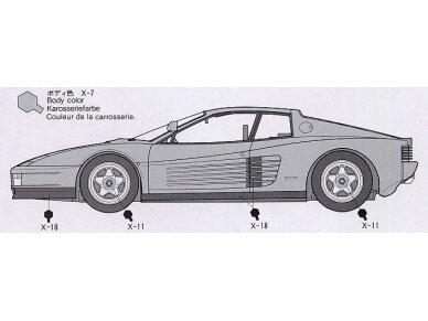 Tamiya - Ferrari Testarossa, Mastelis: 1/24, 24059 6