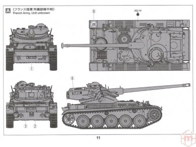 Tamiya - French Light Tank AMX-13, Mastelis: 1/35, 35349 11