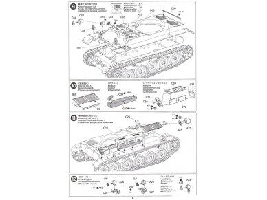 Tamiya - French Light Tank AMX-13, Mastelis: 1/35, 35349 16