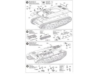 Tamiya - French Light Tank AMX-13, Mastelis: 1/35, 35349 16