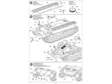 Tamiya - French Light Tank AMX-13, Mastelis: 1/35, 35349 17