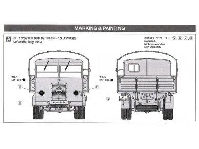 Tamiya - German 3.5t truck AHN w/3.7cm Flak 37 AA Gun, Mastelis: 1/35, 32410 11