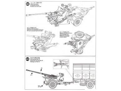 Tamiya - German 3.5t truck AHN w/3.7cm Flak 37 AA Gun, Mastelis: 1/35, 32410 26