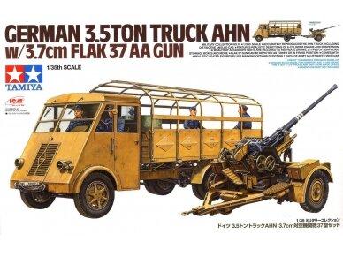 Tamiya - German 3.5t truck AHN w/3.7cm Flak 37 AA Gun, Mastelis: 1/35, 32410