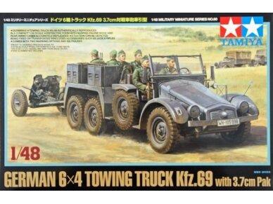 Tamiya - German 6x4 Towing Truck Kfz.69 with 3.7cm Pak, Scale: 1/48, 32580