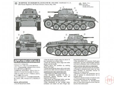 Tamiya - German Panzerkampfwagen II Ausf.A/B/C (Sd.Kfz.121) (French Campaign), Mastelis: 1/35, 35292 4