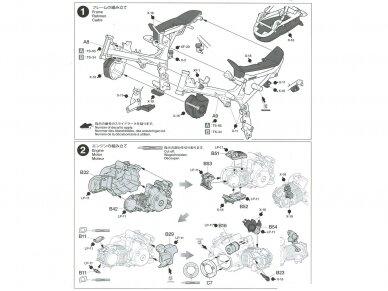 Tamiya - Honda Monkey 125, Mastelis: 1/12, 14134 19