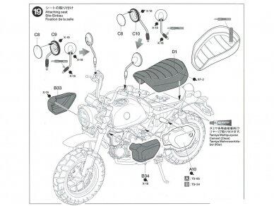 Tamiya - Honda Monkey 125, Mastelis: 1/12, 14134 26
