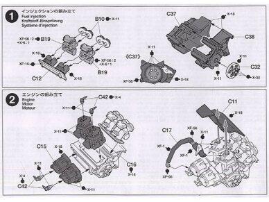 Tamiya - Honda NSR500 Factory Color, Mastelis: 1/12, 14099 6