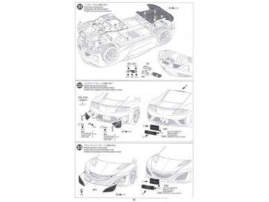 Tamiya - Honda NSX 2016, Mastelis: 1/24, 24344 24