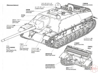 Tamiya - Jagdpanzer IV/70(V) Lang (Sd.Kfz.162/1), Mastelis: 1/35, 35340 10