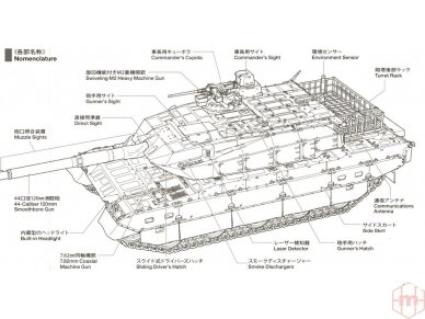 Tamiya - JGSDF TYPE 10 TANK, Mastelis: 1/48, 32588 5