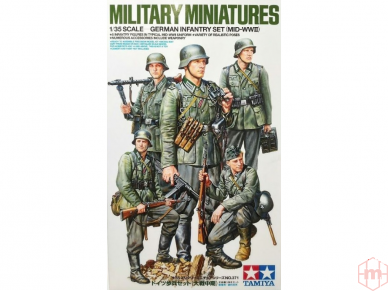 Tamiya - German Infantry Set (Mid-WWII), Mastelis: 1/35, 35371