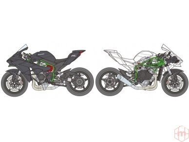 Tamiya - Kawasaki Ninja H2R, Scale: 1/12, 14131 4